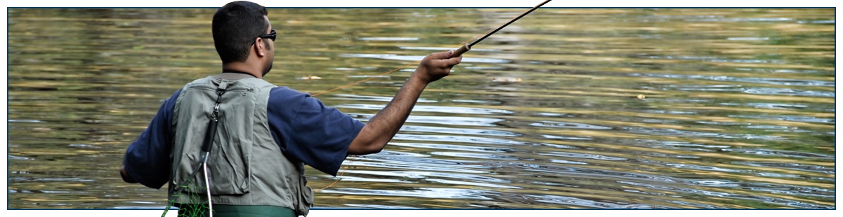 Sam's Baits gallery featured image | an angler fishes on a lake